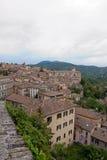 panorama- perugia för stad sikt Arkivfoto