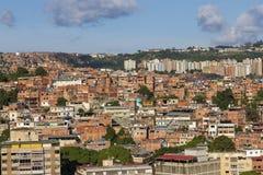 Panorama of Petare Slum in Caracas, capital city of Venezuela. royalty free stock photography
