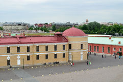 Panorama  of Peter and Paul fortress from a height in Saint Petersburg, Russia Royalty Free Stock Image