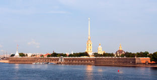 Panorama of Peter and Paul fortress in Saint-Petersburg Royalty Free Stock Photo