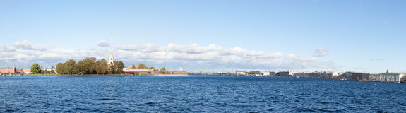 Panorama of the Peter and Paul Fortress Stock Image