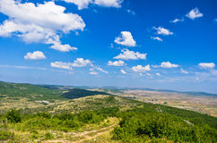 Panorama of Pešter plateau landscape Royalty Free Stock Image