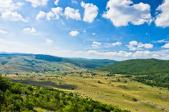 Panorama of Pešter plateau landscape Royalty Free Stock Photography