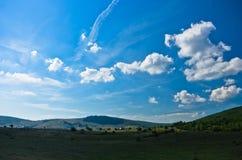 Panorama of Pešter plateau landscape Royalty Free Stock Photo