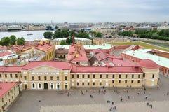 Panorama Petersburg, Rosja od wzrosta fotografia stock