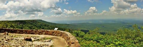 Panorama Petit Cajgowa Rzeczna dolina Przegapia Obraz Royalty Free