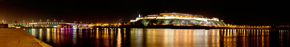Panorama of Petrovaradin Fortress in Novi Sad, Serbia Stock Image