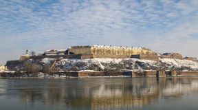 Panorama of Petrovaradin fortress in Novi Sad, Serbia Royalty Free Stock Image