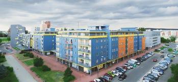 Panorama Petrzalka Royaltyfria Bilder