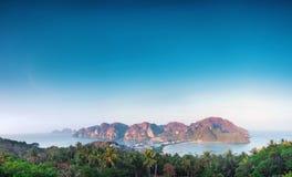 Panorama of phi phi island Stock Image
