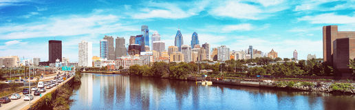 Panorama of Philadelphia Royalty Free Stock Photo