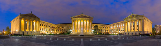 Panorama of Philadelphia Pennsylvania Museum of Art Royalty Free Stock Images
