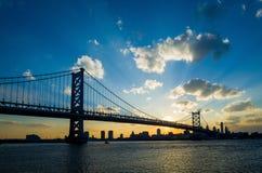 Panorama of Philadelphia skyline stock photography