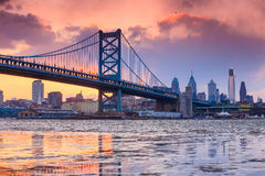 Panorama of Philadelphia skyline Royalty Free Stock Images