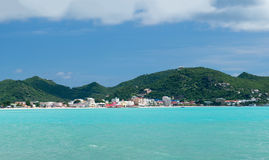 Panorama of Philipsburg Sint Maarten Royalty Free Stock Photo