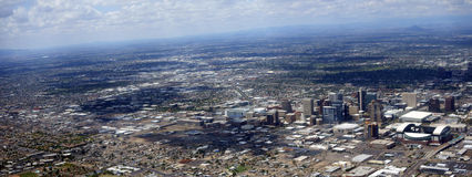 Panorama of Phoenix downtown, Arizona Royalty Free Stock Image