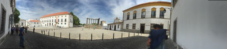 Panorama. Photo of Évora city center Stock Photography