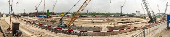 Panorama photo of the biggest sea lock in the world stock photo
