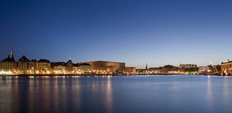 Panorama photo of Stockholm City Royalty Free Stock Image