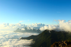 Panorama of  Phu chi fa in Thailand Royalty Free Stock Photo