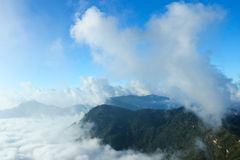 Panorama of  Phu chi fa in Thailand Stock Image