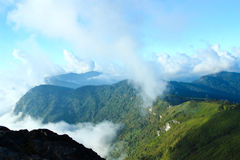 Panorama of  Phu chi fa in Thailand Stock Photo