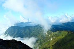 Panorama of  Phu chi fa in Thailand Stock Photo