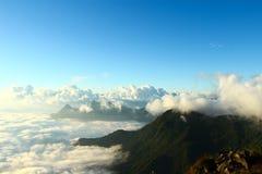 Panorama Phu chi fa w Tajlandia Zdjęcie Royalty Free