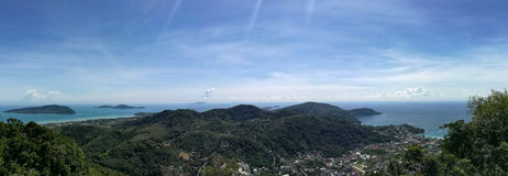 Panorama of Phuket-Eiland Thailand Royalty-vrije Stock Fotografie