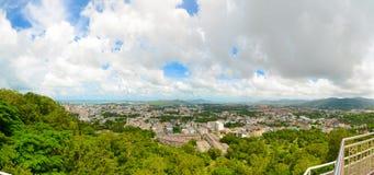 Panorama of Phuket Town from Khao Rang viewpoint Royalty Free Stock Photos