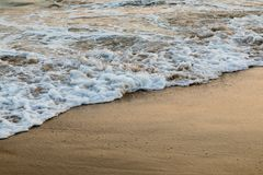 Panorama piękny zmierzch na oceanie Obrazy Royalty Free