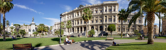 Panorama of Piazza Cavour, Rome stock photos
