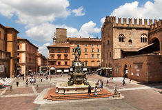 Fountain of Neptune in Bologna. Italy. stock photography