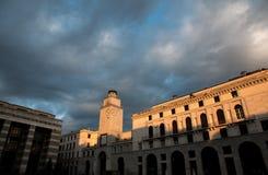 The panorama of Piazza della Vittoria Stock Image