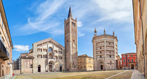 Panorama of Piazza Duomo in Parma Stock Photos