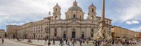 Panorama - Piazza Navona, Rome. Royalty Free Stock Photo