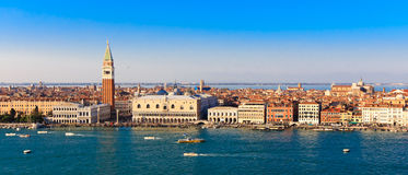 Panorama Piazza San Marco in Venice, view from the top Royalty Free Stock Photo