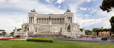 Panorama of Piazza Venezia in Rome royalty free stock photos