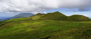 Panorama of Pico - interior of island Royalty Free Stock Photos