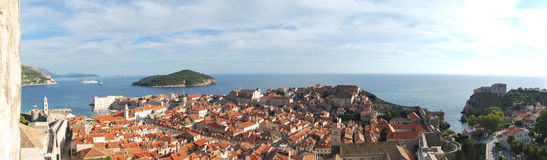 Panorama picture from Dubrovnik Stock Photography