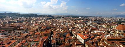 Panorama picture of Florence, Italy Royalty Free Stock Photos