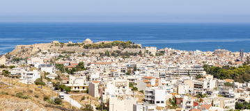 Panorama picture from Rethymno on Crete Stock Photography