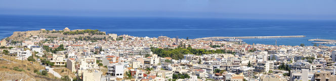 Panorama picture from Rethymno on Crete Royalty Free Stock Photo