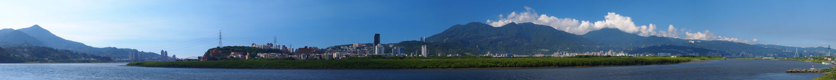 Panorama Picture of Taipei City Stock Photo