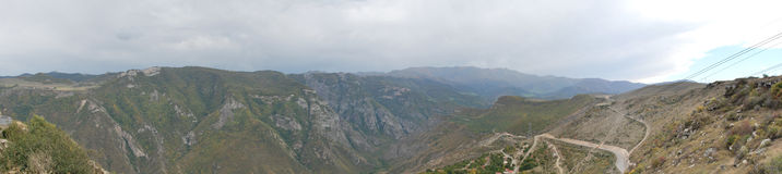 Panorama picture from Tatev , Armenia Stock Photography