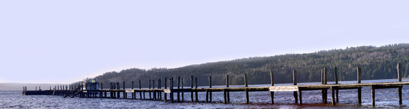 Panorama pictures of the bridge  isa of Lygnern Stock Photos