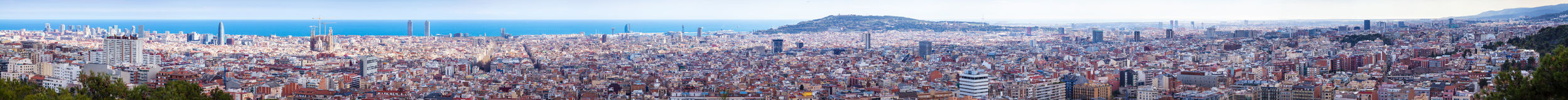Panorama of picturesque Barcelona cityscape Stock Photography