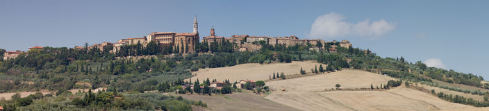 Panorama of Pienza Royalty Free Stock Photos