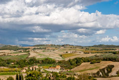 Panorama from Pienza, Tuscany royalty free stock image