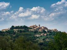 Panorama Pienza w Tuscany Zdjęcie Stock